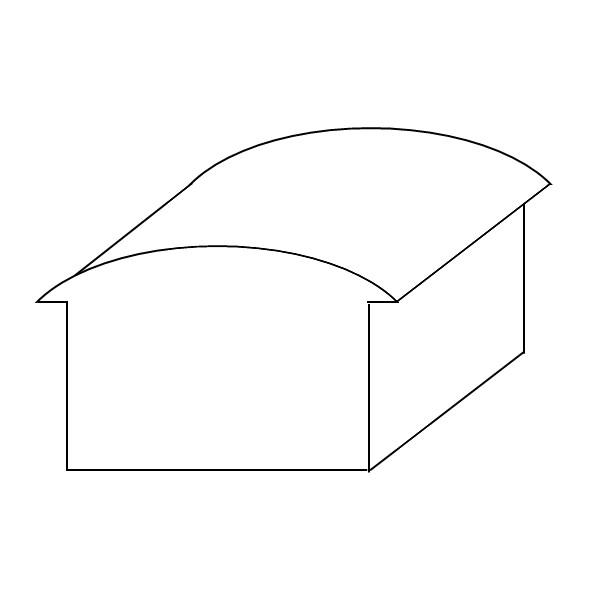 Schema einer Bogendachform