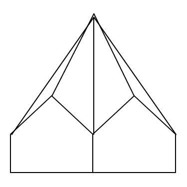 Schematische Darstellung eines Faltdaches