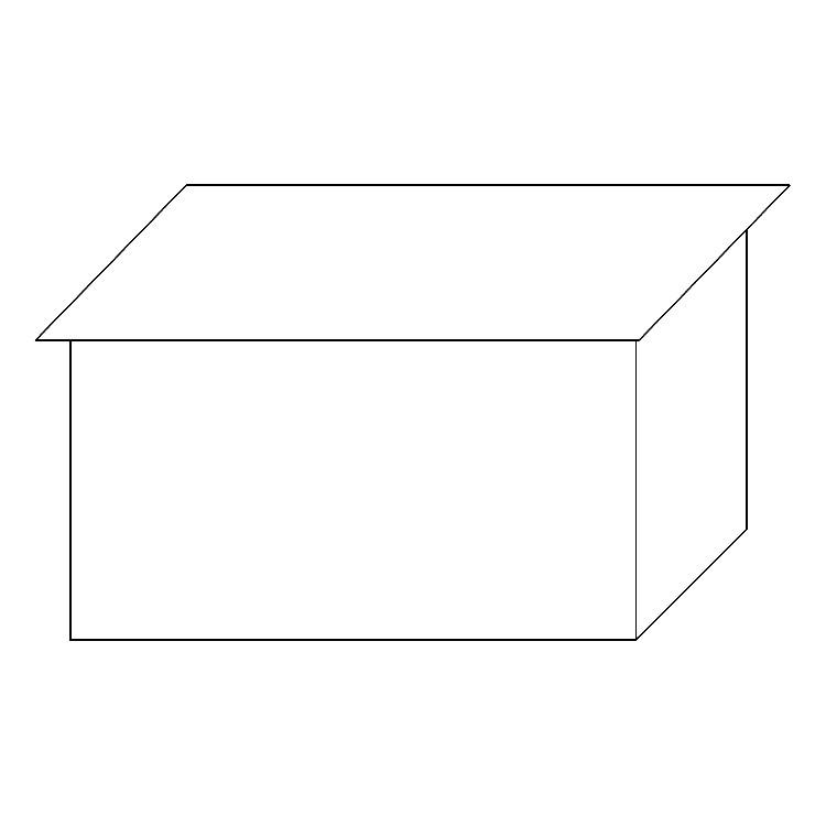Schematische Darstellung eines Flachdaches