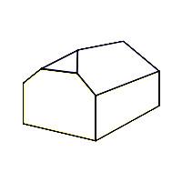 Schematische Darstellung eines Krüppelwalmdaches