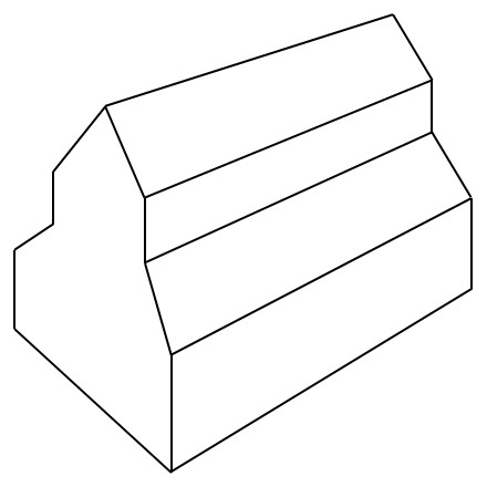 Darstellung eines Laternendaches