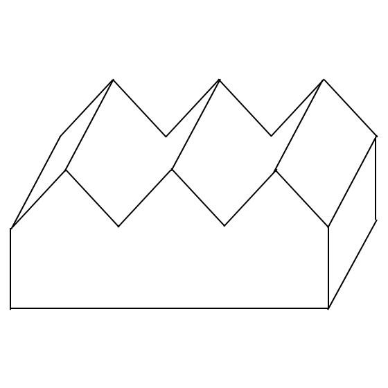 Schematische Skizze einer Muldendachform