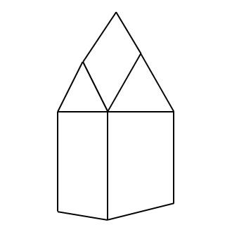 Schematische Darstellung eines Rautendaches