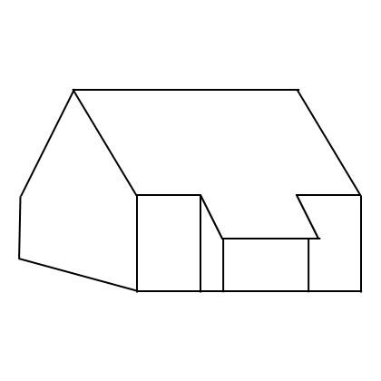 Schematische Darstellung eines Schleppdaches