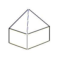 Schematische Darstellung eines Zeltdaches