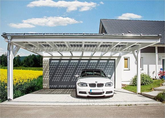Experten ratgeber aufbau und kosten von solarcarports for Carport mit solardach