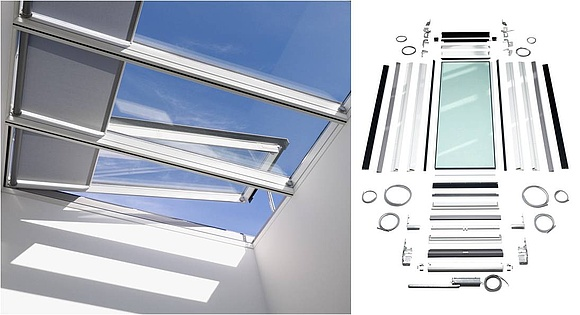 Oberlichter Flachdach flachdach oberlicht im detail