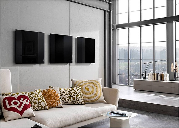 infrarotheizungen aus glas varianten kosten. Black Bedroom Furniture Sets. Home Design Ideas