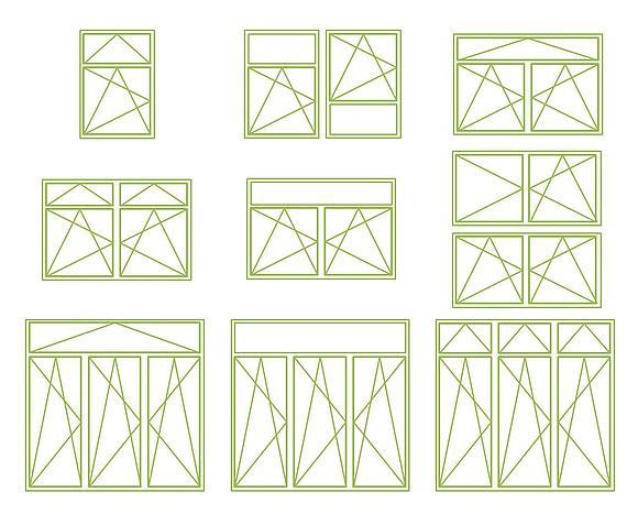 Grundformen und formenvarianten von fenstern for Fensterformen modern