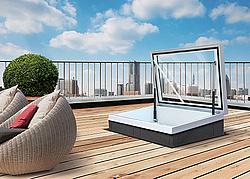 Dachlukenfenster f r schr g und flachd cher - Dachfenster mit ausstieg ...