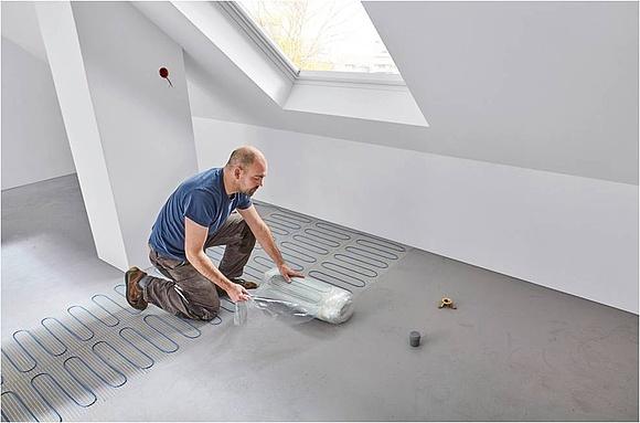 aufbau und aufbauh he von elektrischen fu bodenheizungen. Black Bedroom Furniture Sets. Home Design Ideas